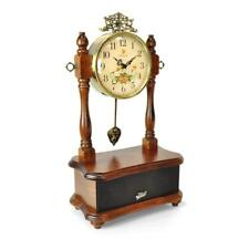 Pyle 2-in-1 Retro Vintage Style Clock & Bluetooth Stereo Speaker System