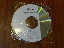 New Nikon OEM Genuine CD with User's Guide Instructions Manual for Coolpix S3000