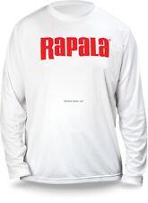 NEW Rapala Fishing Core Long Sleeve Shirt White Red Logo M RCLS9008M