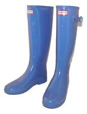 HUNTER Refined Gloss Original Tall Rain Boots Adder Blue  37/7