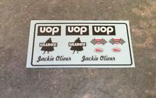 1/18 Custom Driver Figure Race-Suit Decals Jackie Oliver 1974 UOP Shadow CanAm