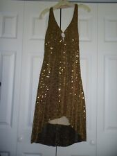 NEW Junior Woman's size large Gold Sequin Fancy Club Dress from Taboo