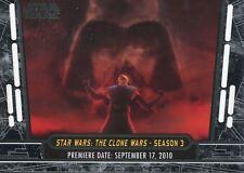 Star Wars 40th Anniversary Base Card #12 Star Wars: The Clone Wars - Season 3