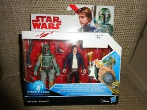 Star Wars Star Wars Force Link  Han Solo and Boba Fett Action figure NEW
