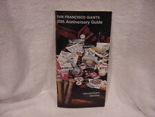 1982 San Francisco Giants 25th Anniversary Collectors Edition Media Guide, NMMT!