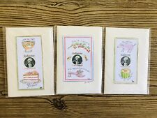 Julie Whitmore Hand Painted Watercolor Mixed Greeting Cards 3 UNUSED ORIGINALS