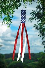 "Embroidered Stars American Flag Windsock 60"" Show USA Patriotic Support"