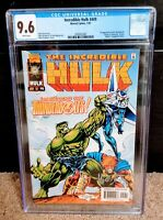 Incredible Hulk #449 CGC 9.6 - first Thunderbolts - signed by Mike Deodato Jr.