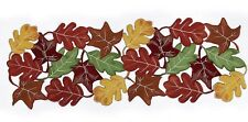 NEW polyester LEAF embroidery CUTOUT rayon TABLE RUNNER 36-inches FALL