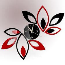 Hot!New Design DIY 3D Mirror Clock Deco Quote Remove Wall Sticker Home Art Decor