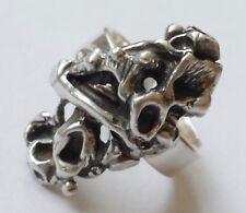 Designer Ring 925 Silber geschwärzt Modernist Vintage 70er ring silver