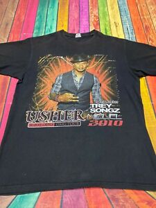 Vintage Usher OMG Tour Miguel Trey Songz R&B Tour Shortsleeve Shirt | Medium