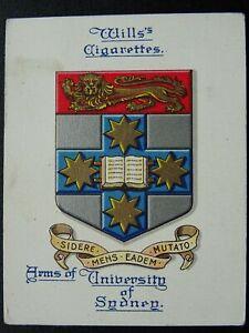 No.23 AUSTRALIA SYDNEY UNIVERSITY Arms of Universities L25 W.D.& H.O.Wills 1923