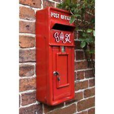 """Dartmoor"" Slim Red Royal Post Box & Letter Box"