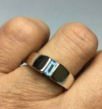 James Avery Retired Meridian Blue Topaz Ring Size 7 Free Shipping USA