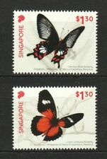 SINGAPORE 2019 PHILIPPINES JOINT ISSUE BUTTERFLY COMP. SET OF 2 STAMPS IN MINT