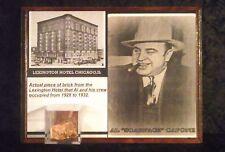 AL CAPONE brick piece from the lexington hotel his headquarters in chicago w/COA