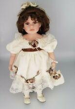 China Porcelain Doll Long Hair Lace Trim Dress  China Head Hands Legs & Feet