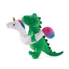 Fringe Studio Pool Time T-Rex with Unicorn Floatie Plush Squeaker Dog Toy