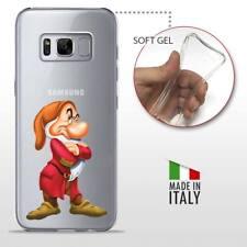 Samsung Galaxy S8 CASE COVER PROTETTIVA TRASPARENTE Disney Biancaneve Brontolo