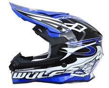Wulfsport Sceptre Adult Moto-X ACU Gold Motocross MX Crash Off Road Helmet Blue