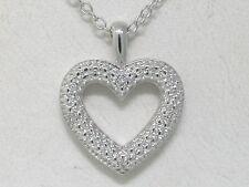 Ausverkauf  Diamant Anhänger  4 Diamanten  incl. Kette Herz Liebe