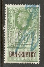 King George V - 1s 6d Green  - Bankruptcy  - Used