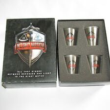 Night Watch Set of 4 Stainless Steel Shot Glasses Supernatural Vampire Movie