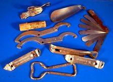 Lot Church Key Openers, Spark Plug Gapper, Perlick Beer Faucet Wrench, Etc.