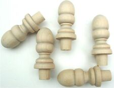 Wood Finial Turning Pack of 5 For Woodworking And Crafts