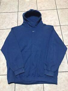 Nike Hoodie Pullover Blue Sweatshirt Size XXL Mens