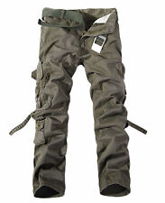 hot Men's Combat Men's Cotton Cargo ARMY Pants Military Camouflage Camo Trousers