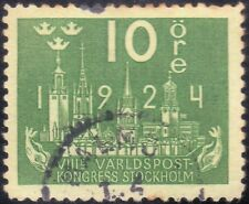 /SWEDEN 1924 World Post Congress 10o USED @S3081