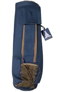 Llamaste Premium Canvas Yoga Mat Bag in Steel Blue