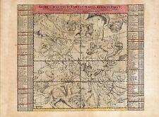 Old Vintage Decorative Stars map Hercules Scorpius Libra Doppelmayr ca. 1742
