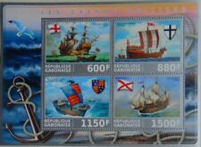 Sailing Ships from the Middle Ages m/s Gabon 2017 MNH #VG2183