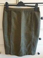 Joules Womens Green Knee Length Herringbone Tweed Pencil Skirt - UK Size 10.