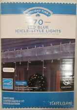 Holiday Time 70 LED Blue Icicle-Style Lights Christmas Winter NEW