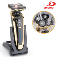 Deluxe Gold Rotary 5D Rechargeable Washable Men's Cordless Electric Shaver Razor