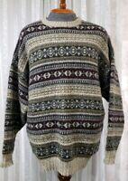 Woolrich John Rich Bros Mens Sweater Sz L XL Fair Isle Wool Long Sleeve