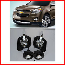 For 2010-2016 CHEVROLET EQUINOX Clear Bumper Fog Lights With Bulbs LH+RH