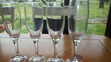 Clear Glass Champagne Flutes Glasses plain stem bowl 4 8 oz toasting glasses