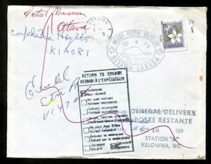 p1158 - OTTAWA 1979 Cover to Kelowna. Returned ✉