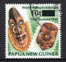 PAPUA NEW GUINEA = QE2 era, 1994 Provisional 10t on 35t. SG732. Very Fine Used.