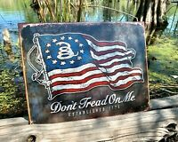 DTOM Vintage Flag Vintage Metal Tin Sign Wall Decor Garage Man Cave Home Rustic