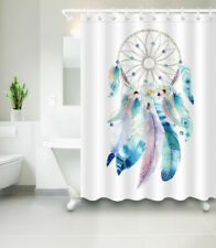 Waterproof Fabric Dreamcatcher Native American Shower Curtain Hooks Bathroom Set