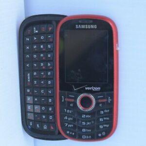 PARTS READ** Samsung Intensity SCH U450 Red/Black Verizon Slide Qwerty Phone