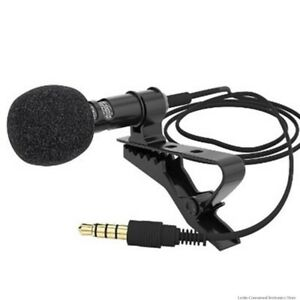 Mini Portable Microphone Condenser Clip-on Lapel Lavalier Microphone for any