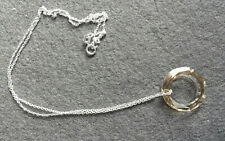 """Lovely 925 Sterling Silver Swarovski Circle of Life Pendant on 18"""" Chain ~ P0109"""