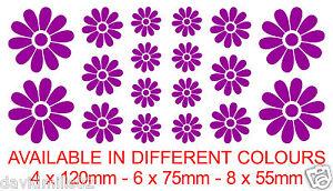 18 Flower Design Self Adhesive Vinyl Stickers